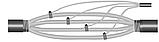 Муфта ответвительная 4 ПОТ-1  (50–95/4–35) с зажимами ЗЭТА кабельная, фото 2