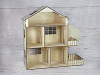 Кукольный домик из фанеры - маленький (деревянный)