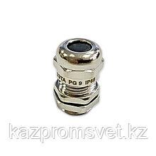 Кабельный ввод PG   9 латунный УТ1,5 IP68 (d кабеля 4-8 мм) ЗЭТА