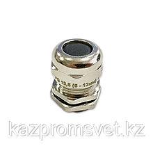 Кабельный ввод PG  13.5 латунный УТ1,5 IP68 (d кабеля 6-12 мм) ЗЭТА