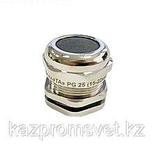 Кабельный ввод PG  29 латунный УТ1,5 IP68 (d кабеля 18-25 мм) ЗЭТА