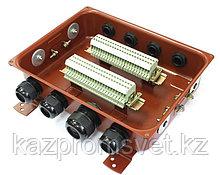 Клеммная Коробка с зажимами наборными КЗНС-48 У2 IP54 пластиковый ввод ЗЭТА