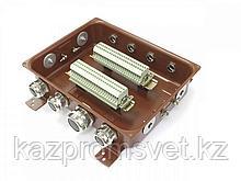 Клеммная Коробка с зажимами наборными КЗНС-48 УХЛ 1,5 IP65 латунный ввод  ЗЭТА