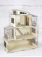 Сказочный кукольный домик из фанеры без мебели (деревянный)