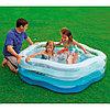 """Intex 56495, надувной семейный бассейн с надувным дном Summer Colors, """"Звезда"""" 185х180*53 см, фото 3"""