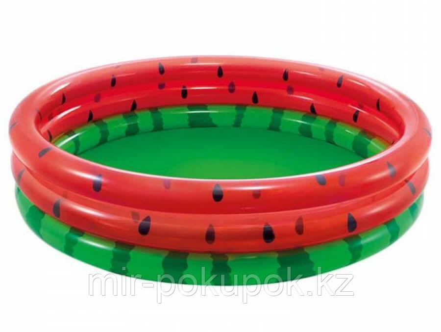Надувной бассейн детский круглый Арбуз, Intex 58448, 168x38 см