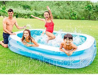 Надувной семейный бассейн INTEX 56483, 262х175х56 см