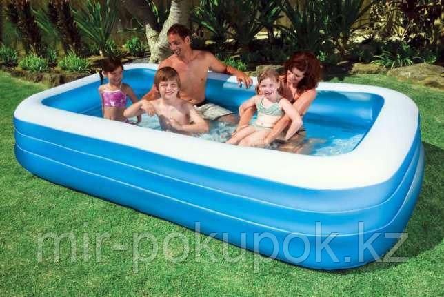 Семейный надувной бассейн Intex 58484 прямоугольный, 305 х 183 х 56 см