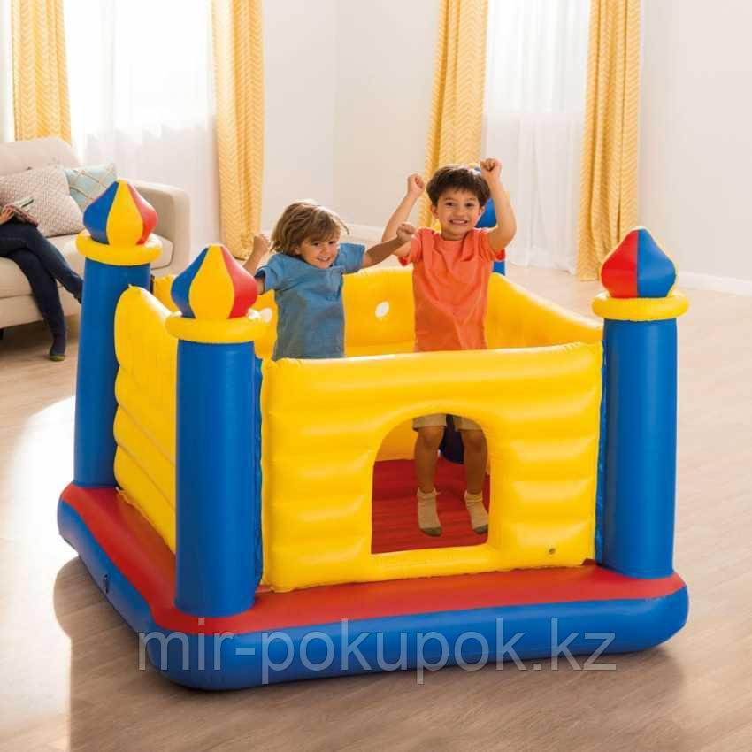 Детский надувной игровой центр батут-замок JUMP-O-LENE CASTLE BOUNCER Intex 48259.(175х175х 135 см)