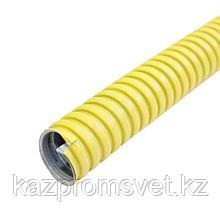 Металлорукав в ПВХ изоляции МРПИ НГ  25  (50 м/уп.) желтый ЗЭТА
