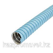 Металлорукав в ПВХ изоляции МРПИ НГ  25  (50 м/уп.) синий ЗЭТА