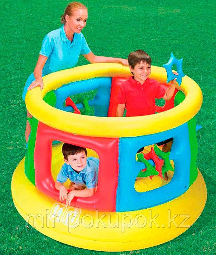 Детский надувной батут круглый Jumping Tube Gym 152х107 см, Bestway 52056