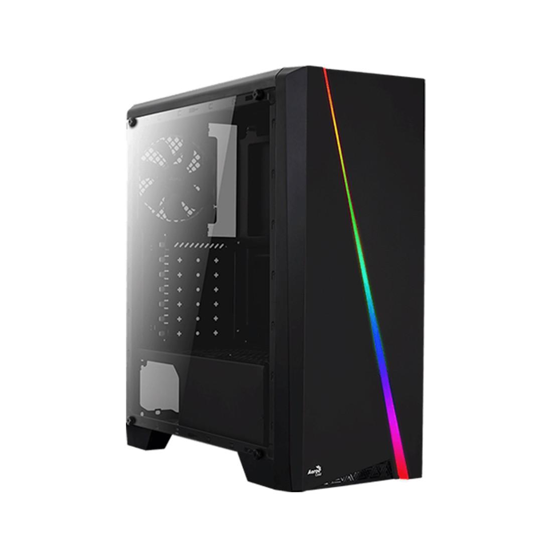 Кейс, Aerocool, Mini Cylon, Micro ATX/mini-ITX, USB 1*3.0/1*2.0, HD-Audio+Mic, Кулер 8см, Высота процессорного кулера 147 мм, Без Б/П, Чёрный