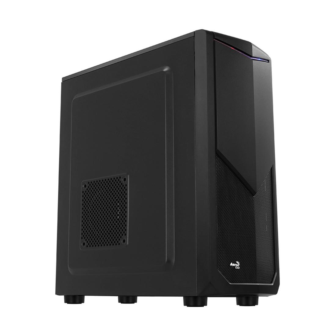 Кейс, Aerocool, Tomahawk, ATX/Micro ATX, USB 2*2.0, HD-Audio+ Mic, Высота процессорного кулера до 167мм, Толщина 0, 5мм, Без Б/П, Чёрный