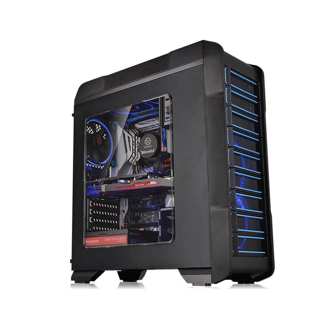 Кейс, Thermaltake, Versa N23 (CA-1E2-00M1WN-00), ATX/Micro ATX, USB1*3.0, USB2*2.0, HD-Audio, Кулер 12см, Без Б/П, Чёрный