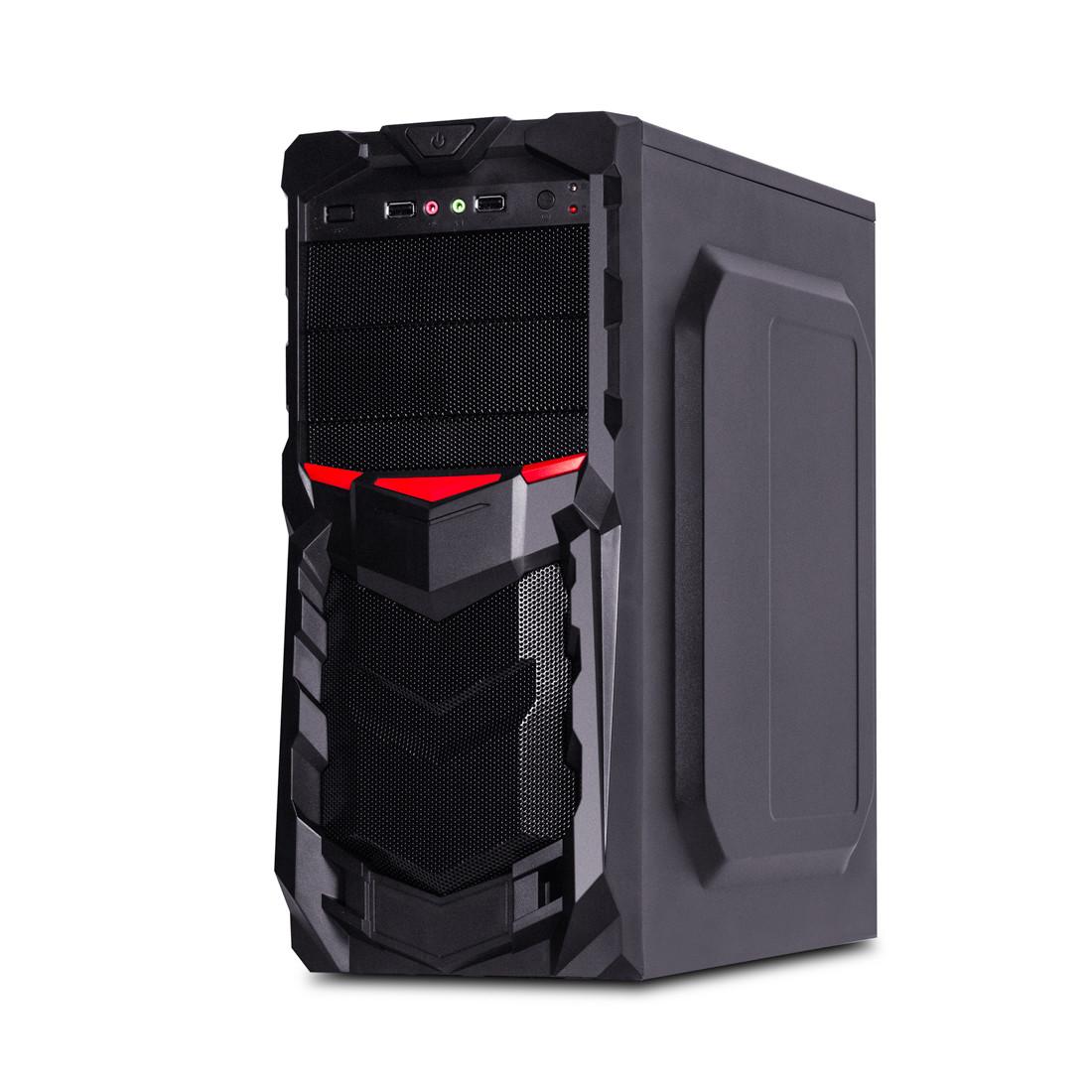 Кейс, Delux, DLC-DW701PS, micro ATX, ATX, USB Hub, HD-Audio, Чёрный, Б/П Delux DP-400, (Вентилятор 8см) 400W, Заводская Сборка (Оригинал)