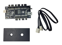 Контроллер подсветки GameMax PWM(R)+RGB Controller adapter for fan GameMax