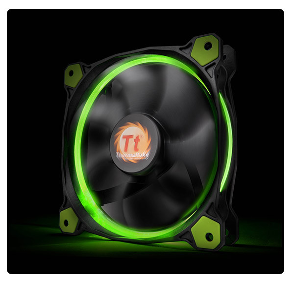 Кулер Thermaltake Riing 12 LED Green (CL-F038-PL12GR-A)