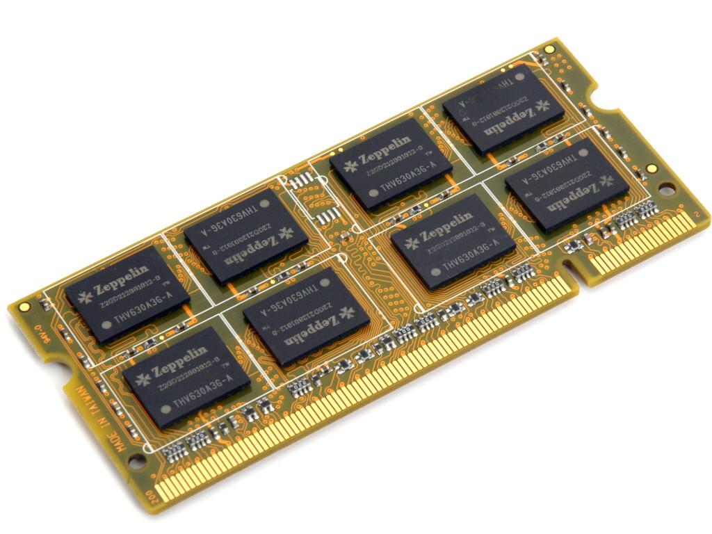 Оперативная память SODIMM DDR3 PC-12800 1600 MHz 8Gb Zeppelin память для ноутбуков