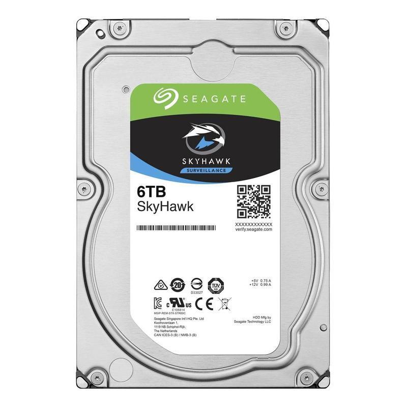 "Жесткий диск для видеонаблюдения 6Tb Seagate SkyHawk SATA3 3.5"" 256Mb ST6000VX0023"