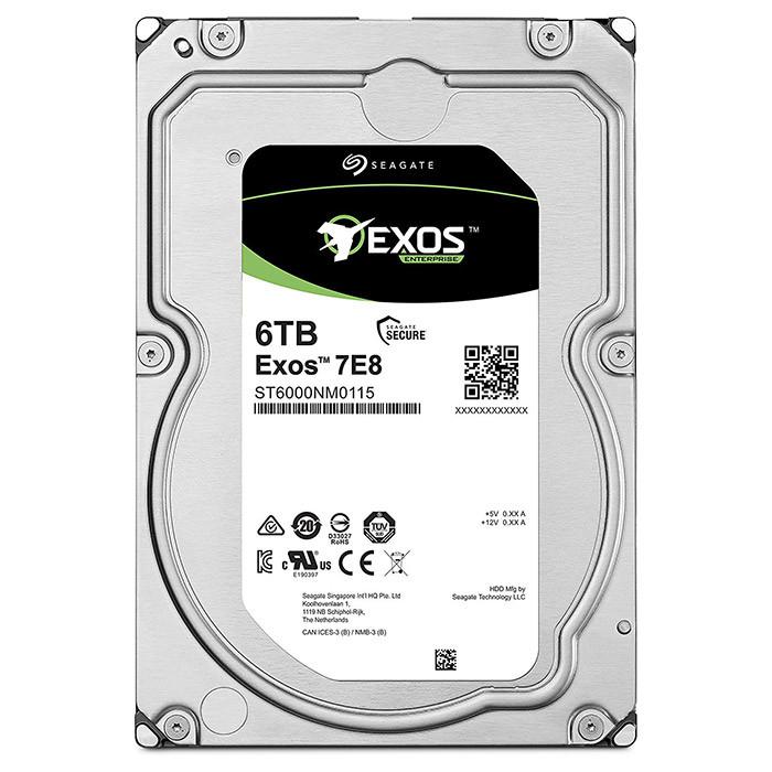 "Корпоративный жесткий диск 6Tb Seagate Enterprise Capacity SATA3 3.5"" 256Mb 7200rpm"
