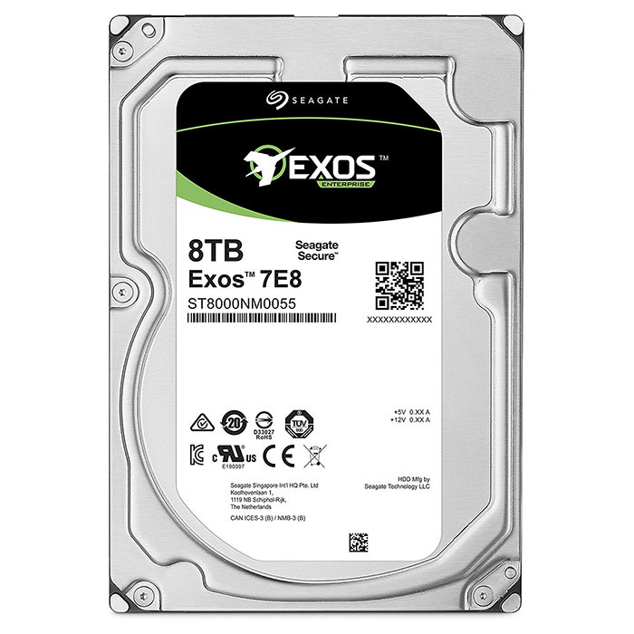 "Корпоративный жесткий диск 8Tb Seagate Enterprise EXOS SATA6Gb/s 7200rpm 256Mb 3, 5"" ST8000NM0055"