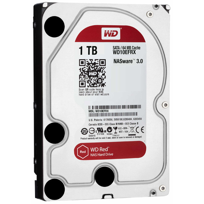 Жесткий диск HDD 1Tb Western Digital Red SATA 6Gb/s 64Mb WD10EFRX