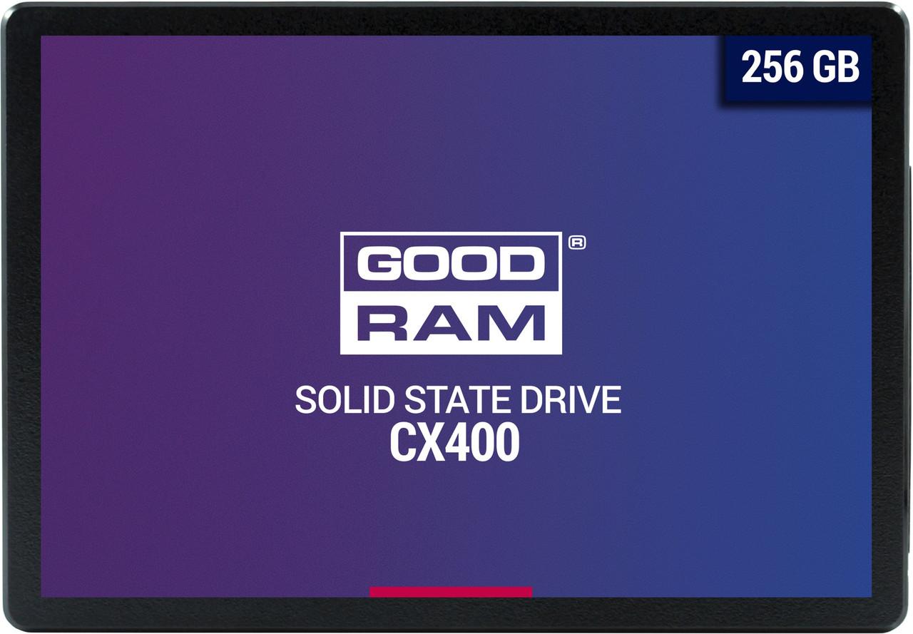 """Твердотельный накопитель 256GB SSD GOODRAM CX 400 2.5"""" SATA3 3D NAND R550Mb/s W490MB/s 7mm SSDPR-CX4"""