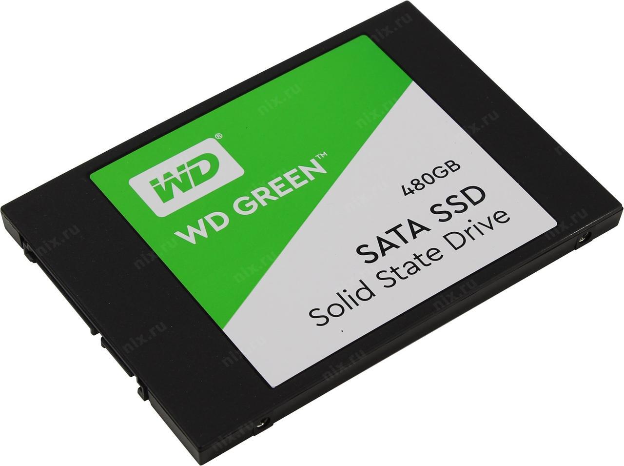 """Твердотельный накопитель 480GB SSD WD Серия GREEN 2.5"""" SATA3 WDS480G2G0A"""