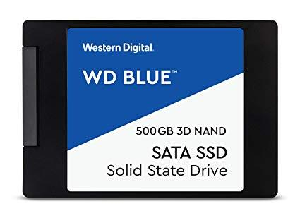 """Твердотельный накопитель 500GB SSD WD WDS500G2B0A Серия BLUE 3D NAND 2.5"""" SATA3"""