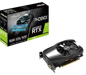 Видеокарта ASUS Phoenix RTX 2060, PH-RTX2060-6G, ITX form factor, 6Gb/192bit GDDR6