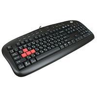 Клавиатура игровая A4tech KB-28G USB, Black, сменные красные клавиши A, S, W, D