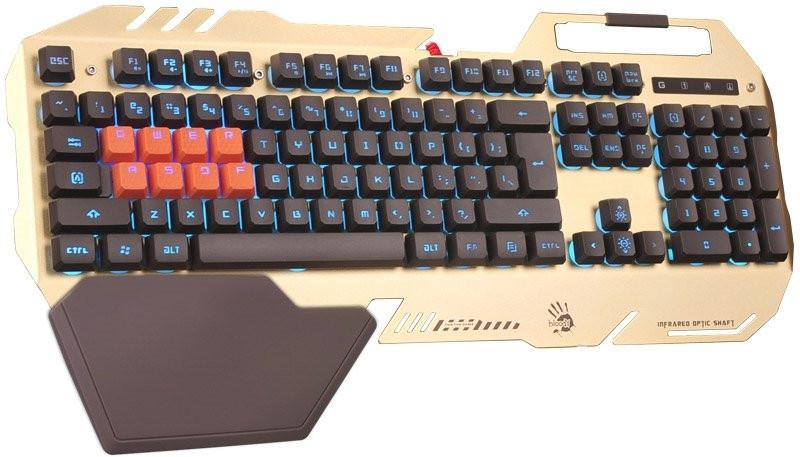 Клавиатура игровая Bloody B418-Golden