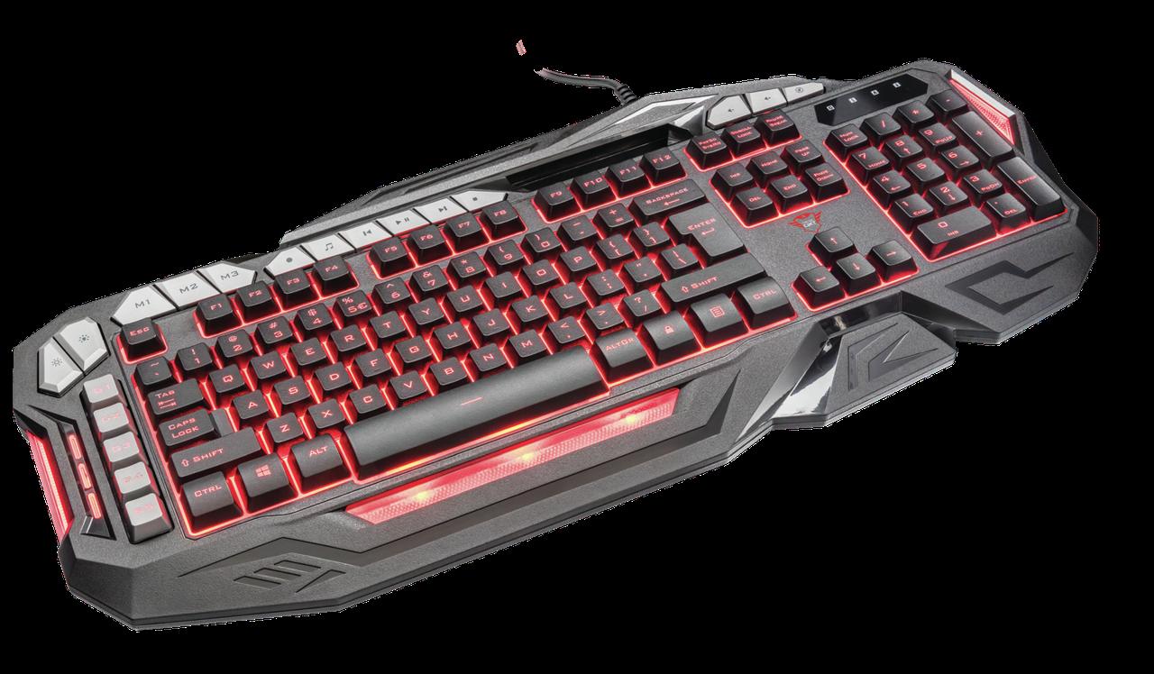 Клавиатура игровая Trust RU GXT285 ADVANCED KB черный