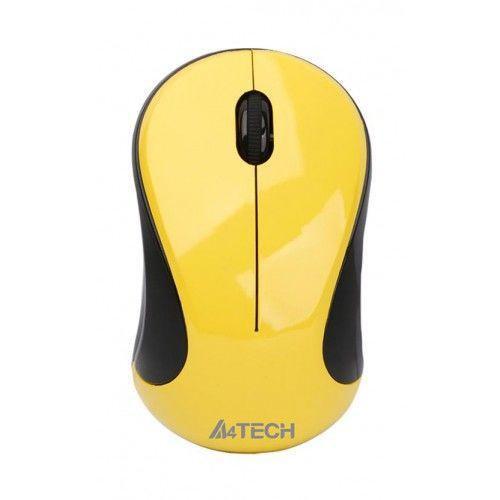 Мышь A4tech N-320-2 YELLOW Оптическая USB 1000 dpi
