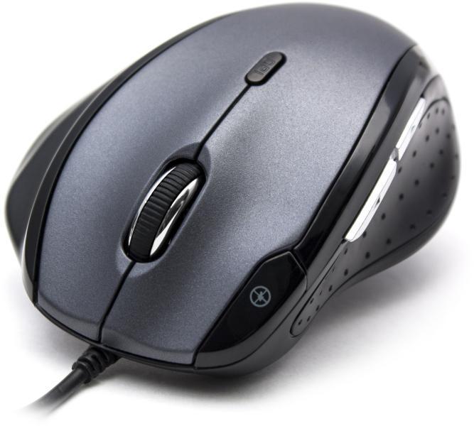 Мышь, Delux, DLM-620OUB, 7D, Оптическая, 1000-1600-2400dpi, USB, Функция возврата курсора в центр экрана, Дополнительные кнопки (функциональные),
