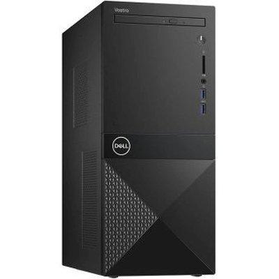 Компьютер Dell/Vostro 3670/MT/Core i7/8700/3,2 GHz/8 Gb/1000 Gb/DVD+/-RW/Graphics/UHD630/256 Mb/Win10/Pro/64/WiFi+BT/KazKB