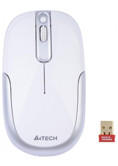 Мышь беспроводная A4tech G9-110H(F) WHITE Оптическая 2,4G USB 1000 dpi