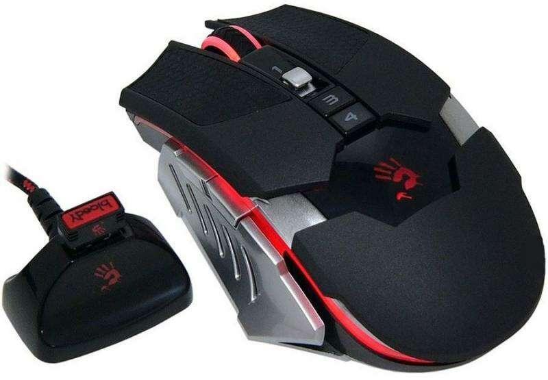 Мышь игровая беспроводная Bloody RT5Warior BLACK Оптическая 2,4G USB 4000 CPI