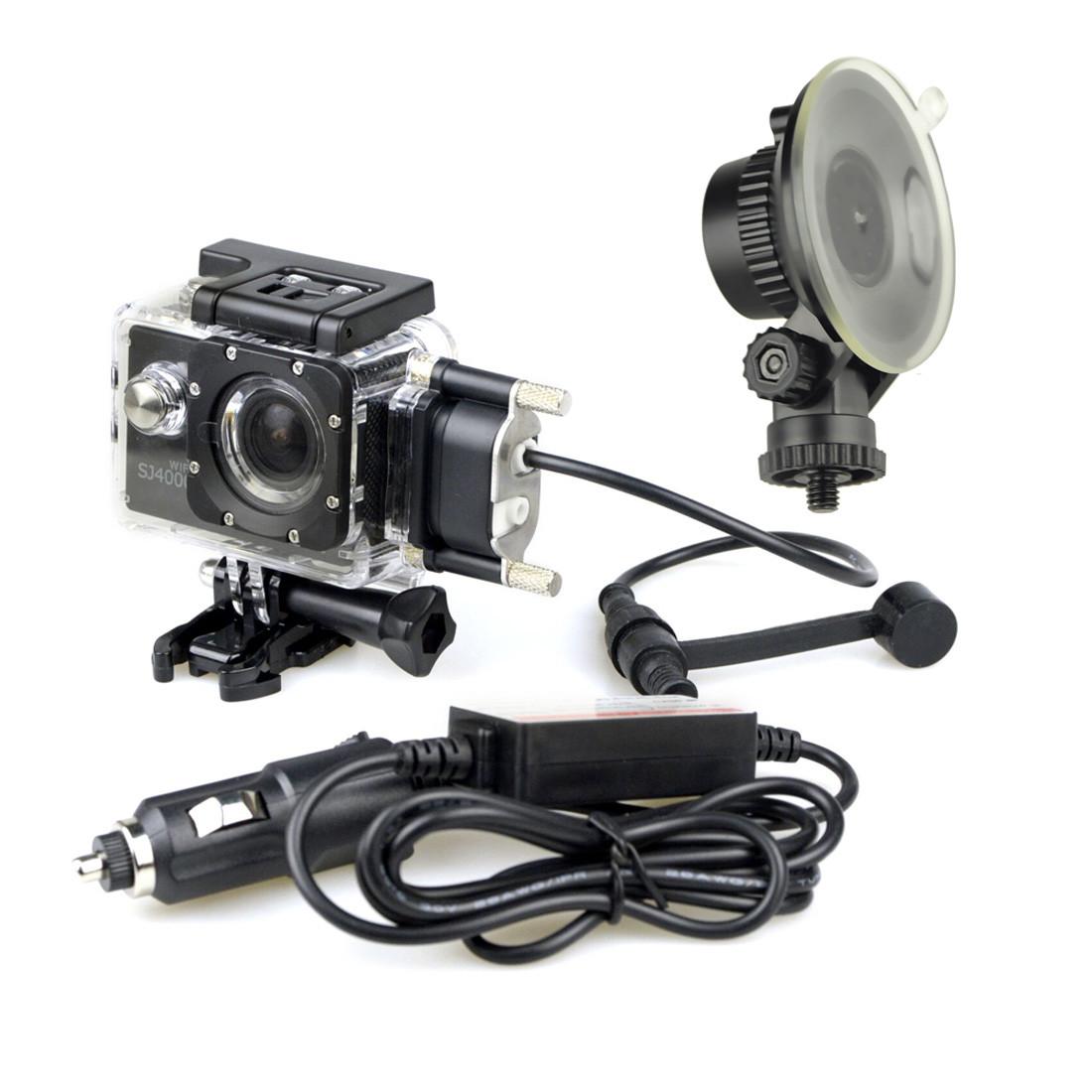 Автомобильный комплект (держатель и зарядка), SJCAM, SJ302, Для всех экшн-камер SJCAM, кроме SJ6 Legend и SJ7 Star и SJ360