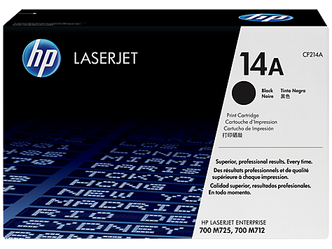 HP CF214A 14A Standard Black Print LaserJet Cartridge