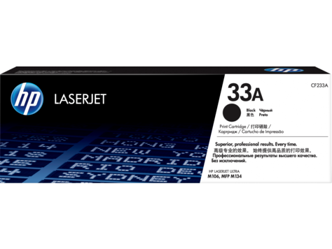 HP CF233A HP 33A Black LaserJet Toner Cartridge