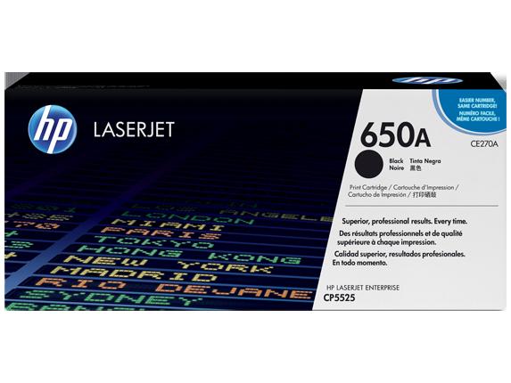 HP CE270A Black Print Cartridge