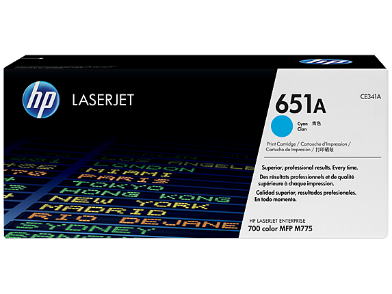 HP CE341A 651A Cyan Toner Cartridge
