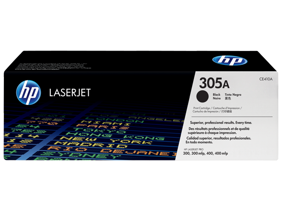HP CE410A 305A Black Toner Cartridge