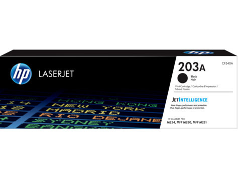 HP CF540A HP 203A Black LaserJet Toner Cartridge