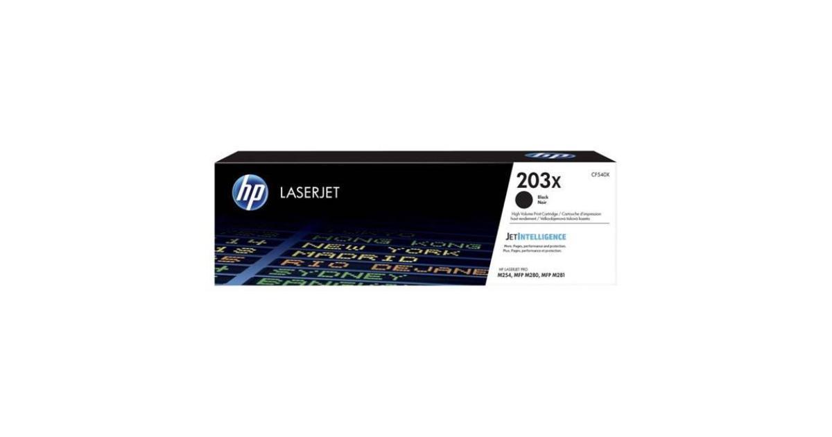 HP CF540X HP 203X Black LaserJet Toner Cartridge