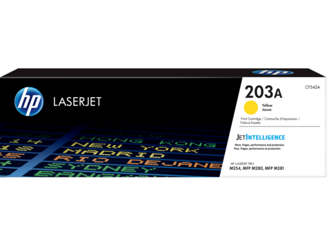 HP CF542A HP 203A Yellow LaserJet Toner Cartridge