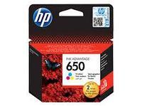 HP CZ102AE Tri-colour Ink Cartridge №650