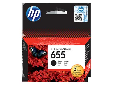 HP CZ109AE Black Ink Cartridge №655